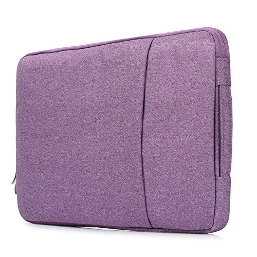 Businda Laptop Sleeve Handbag Polyester Briefcase Carrying Bag for 15 Inch Ultrabook/Notebook/Laptops – Purple