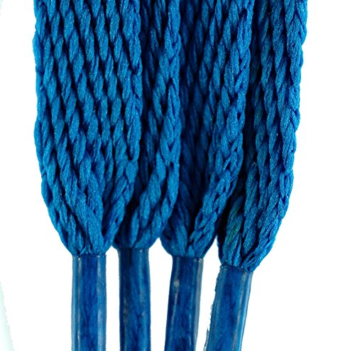 TZ Branded Flat 3/8 (10mm) Fashion Trainers Plimsoles Boots Shoe & Skate Boot Laces Electric Blue nI2EGOOa