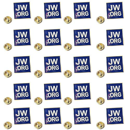 TIHOOD 20PCS JW.ORG Square Gold Lapel Pin Jehovah Witness JW.org Neck Tie Hat Tack Clip Women or Men Suits, 1