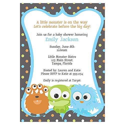 monster baby shower invitations - 8