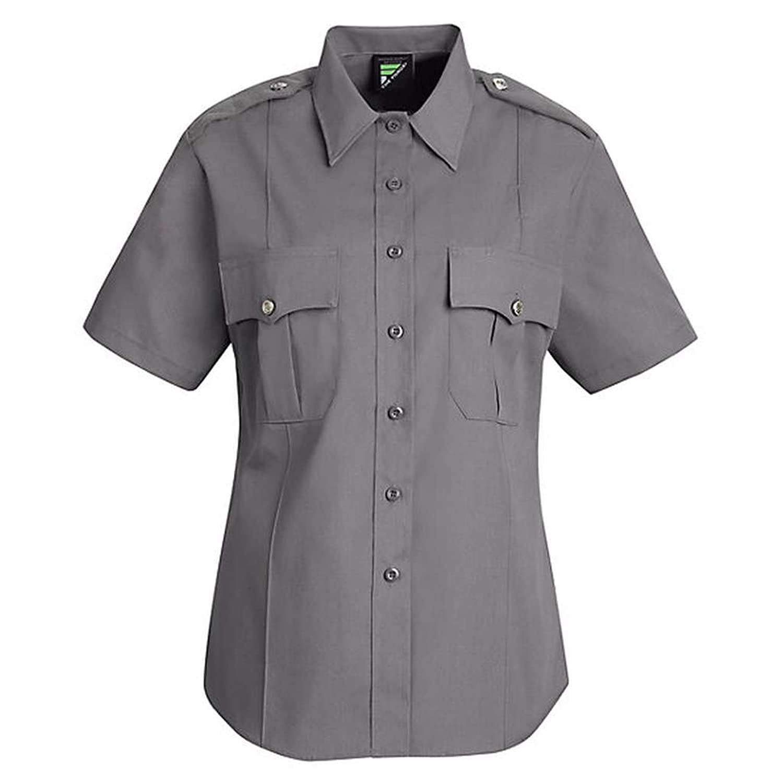 Horace Small New Dimension Stretch Poplin Shirt , Grey, SSXL