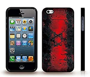 iStar Cases? iPhone 5/5S Case with Israel Flag Grunge Look With Splash Design , Snap-on Cover, Hard Carrying Case (Black)