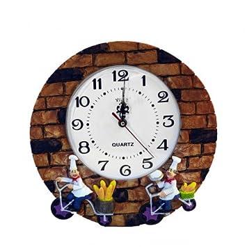 d926f3edb45 Relógio De Parede Analógico Padeiro  Amazon.com.br  Cozinha