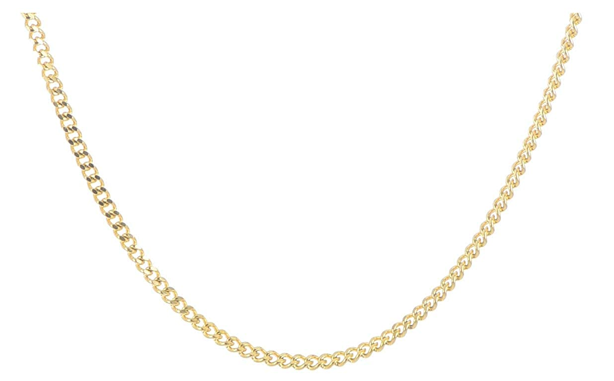 Stainless Steel Gold IP 3mm Curb Chain 18