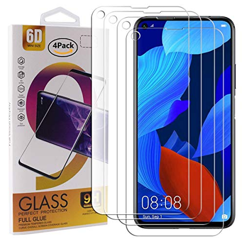 Guran 4 Pack Tempered Glass Screen Protector For HUAWEI Nova 5T Smartphone Scratch Resistance Protection 9H Hardness HD…