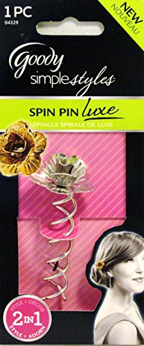 Goody Simple Styles Spin Pin Luxe Hair Accessory (Silver Tone)