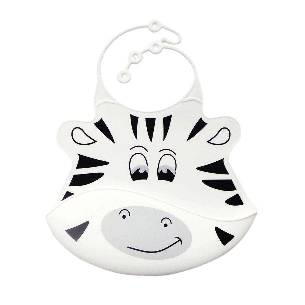GzxtLTX Soft Silicone Kid Infant Bibs Baby Bib Waterproof Saliva Bibs (Width:18CM, Height:26.5CM, White)