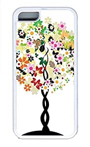 iPhone 5c Cases - Summer Unique Wholesale TPU White Cases Personalized Design White With Red Flowers