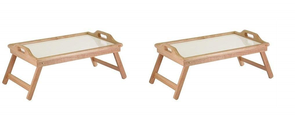 Winsome Wood Breakfast Bed Tray with Handle Foldable Legs (Pack of 2)