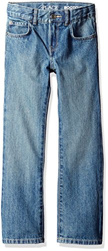 The Children's Place Boys' Bootcut Jeans, River 5700, 7 Slim - 8 Slim Jeans