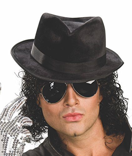 Michael Jackson Adult Black Fedora - Jackson Sunglasses Michael