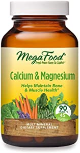 MegaFood, Calcium & Magnesium, Helps Maintain Bone and Cardiovascular Health, Vitamin and Dietary Supplement Vegan, 90 Tablets