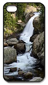 iphone 4 popular case Landscapes water PC Black for Apple iPhone 4/4S
