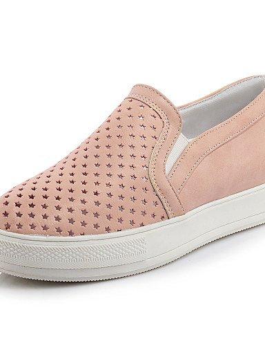ZQ gyht Zapatos de mujer-Plataforma-Punta Redonda-Mocasines-Casual-Semicuero-Negro / Rosa / Blanco , pink-us11 / eu43 / uk9 / cn44 , pink-us11 / eu43 / uk9 / cn44 pink-us1.5 / eu31 / uk0.5 / cn30