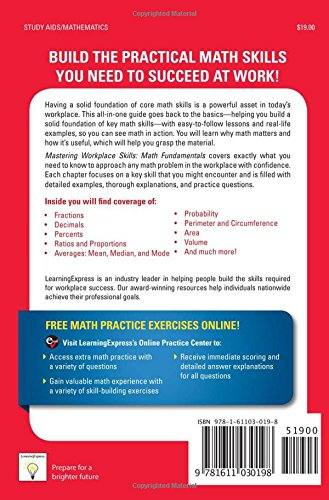 Mastering Workplace Skills: Math Fundamentals: LearningExpress ...
