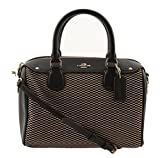 Coach Exploded Reps Print Jacquard Mini Bennett Satchel in Milk/Black, F57242 IMD1I