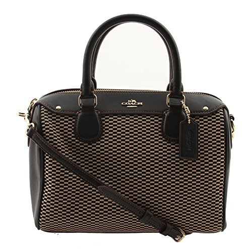 Coach Exploded Reps Print Jacquard Mini Bennett Satchel in Milk/Black, F57242 IMD1I by Coach