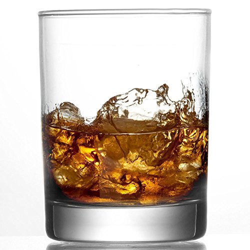 10 oz Whiskey Glasses, Set of 6 Heavy Base Old Fashioned Vodka/Scotch (Tennessee Whiskey Drinks)