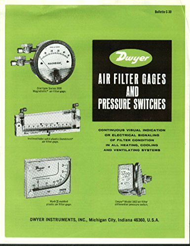 C30 Air (Dwyer Air Filter Gages & Pressure Swicthes catalog C-30 1974)