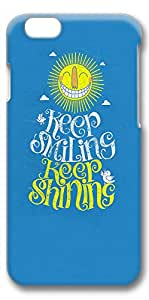 iPhone 6 Plus Case, Ultra Slim Pattern Bumper for iPhone 6 Plus Cover (5.5) Keep Smiling Keep Shining Fun 3D iPhone 6 Plus cases for Girls iphone 6 Plus case hard PC Skin