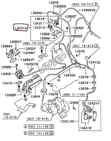 Turbo Válvula De Mariposa VGT solenoides MR577099 K5T81289 K5T46494 K5T48272 CÓDIGO DE FALLO 12 O 52: Amazon.es: Coche y moto