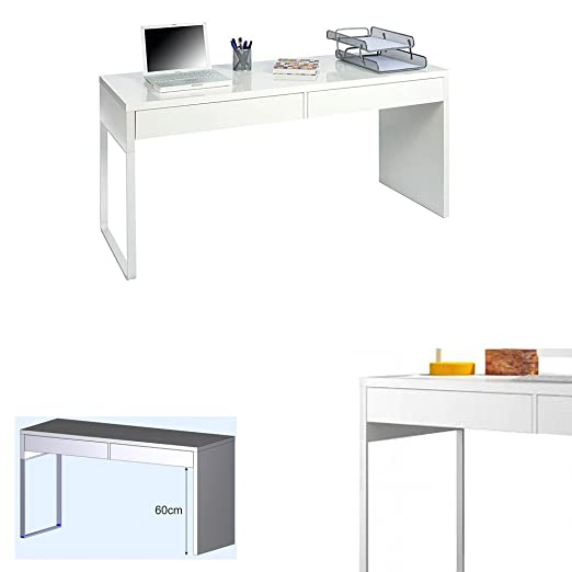 Hogar Decora Mesa Escritorio, Blanco Brillo, Dimensiones 138 x 75 ...