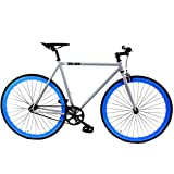 Golden Cycles Fixed Gear Bike Steel Frame with Deep V Rims-Collection, Hammer, 48