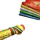 Xinshidai The Troll Gold Powder Version Tibetan Buddhist Wind Horse Prayer Flags,Colored Satin Tibet Sutra Streamer Contain 10 Flags,35cm30cm For Sale
