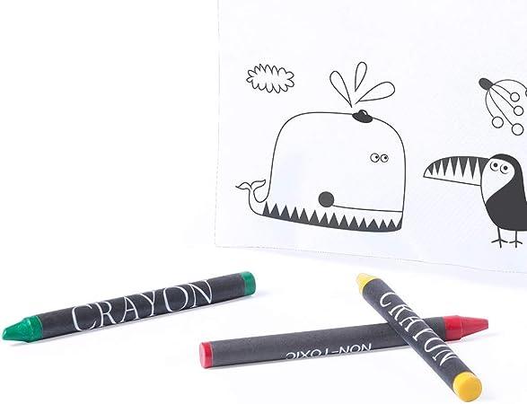 MIRVEN Lote de 30 Estuches para Colorear con 5 Pinturas de Cera Incluidas Cada Cumpleaños, Fiestas de Colegios,comuniones, niños Bodas.: Amazon.es: Oficina y papelería