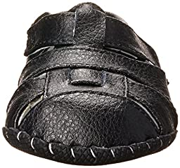 pediped Harvey Originals Fisherman Sandal (Infant/Toddler),Black,Medium (12-18 Months)