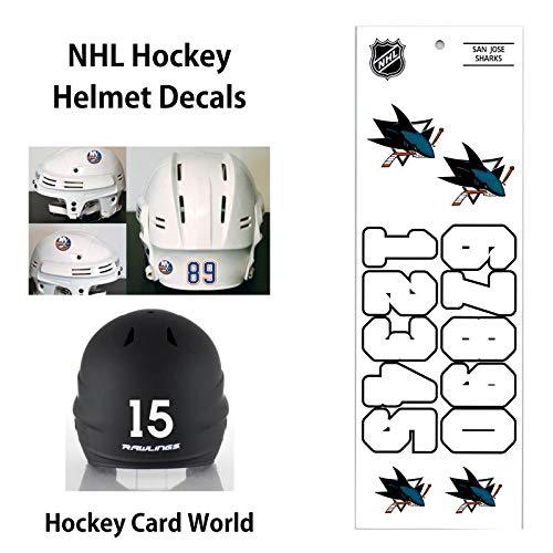 San Jose Sharks (WHITE) NHL Hockey Helmet Decals Sticker Sheet