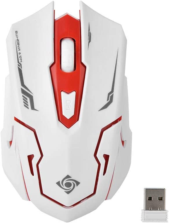 1000//1600 DPI Ergonomic Mouse with USB Nano Reciever 6 Buttons Gaming Keyboard with Multimedia Shortcut Key 2.4GHz Wireless Keyboard /& Mouse Bundle