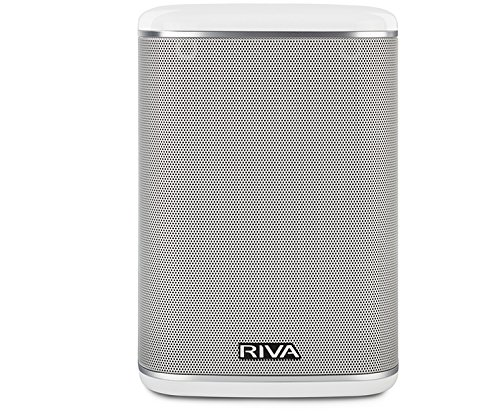 RIVA ARENA Smart Speaker Compact Wireless for Multi-Room music streaming and voice control works with Google Assistant (White) (Best Voice Assistant Speaker)
