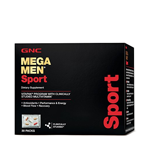 GNC Mega Men Sport Vitapak Program, 30 Count, Energy, Blood Flow, and Recovery Support
