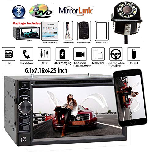 for Nissan Armada Titan 2004-2007 Car Stereo DVD CD Radio Double Din AM/FM USB Screen Mirro Link Bluetooth Hands-Free Steering Wheel Control Function and Rear Camera