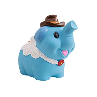 Toyvian Salvadanaio a Forma di Elefante salvadanaio a Forma di Moneta Regalo Bambola di plastica Salvadanaio a Forma di Bambola per Bambino Ragazza (Modello c Blu)