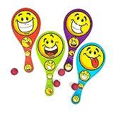 ": 9"" Smiley Paddleball Games"