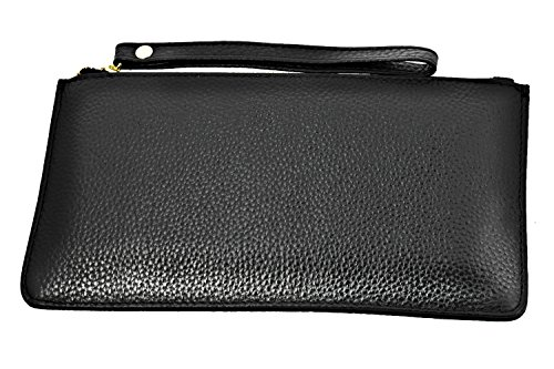 Black Slots Women Clutch Wallets FDTCYDS with Leather Card Black for Phone Purses wf0z0xHqv