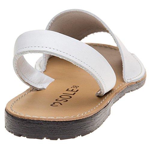 Sole Femme Blanc Sandales Toucan Blanc rrwqPFOx
