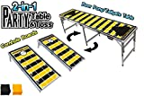 PartyPongTables.com 2-in-1 Pittsburgh Football Field 2-in-1 Cornhole Boards & Beer Pong Tailgate Table - Pittsburgh Football Field