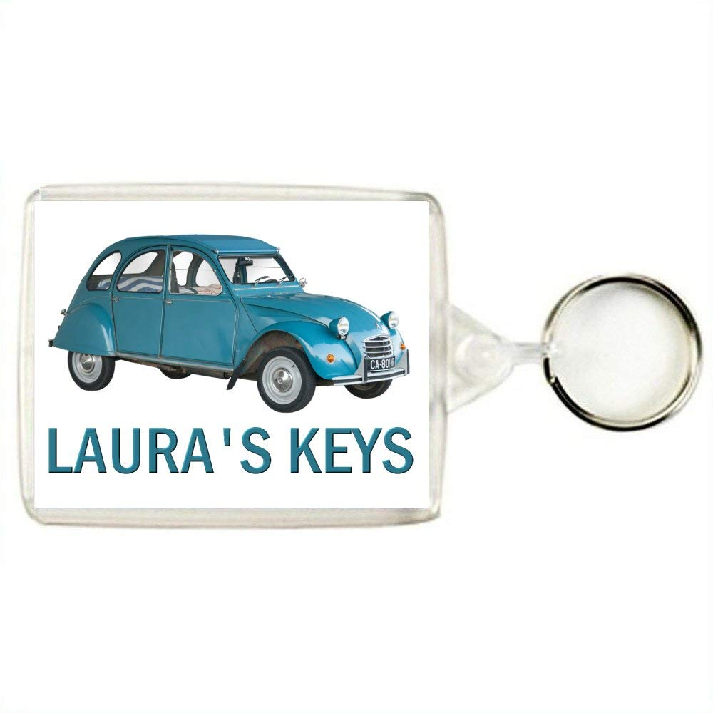 Bag Tag Key Expressions Personalised CITROEN 2CV DEUX CHEVAUX Classic Car Keyring An Ideal Gift for a Car Enthusiast
