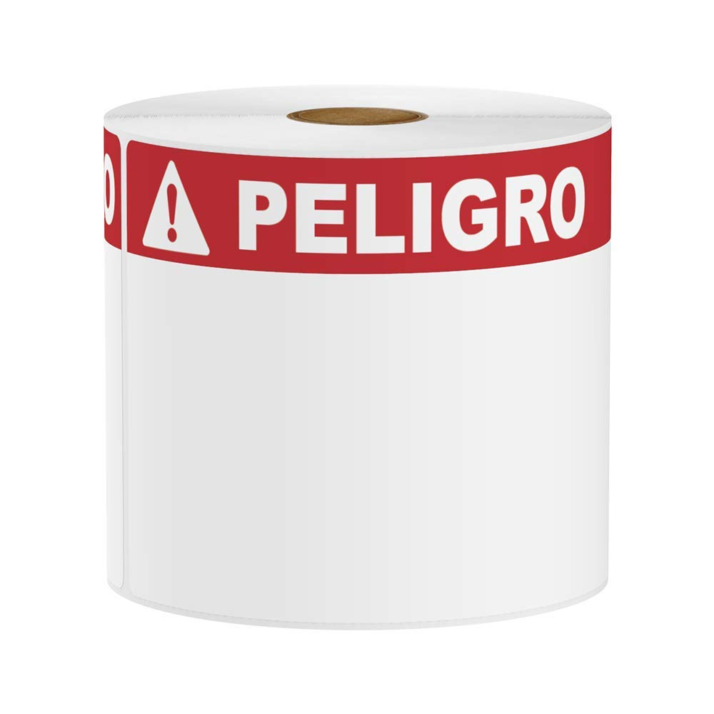 SafetyPro and Others 240 Labels VnM LabelTac 4 x 6 Premium Die-Cut Peligro Labels for DuraLabel