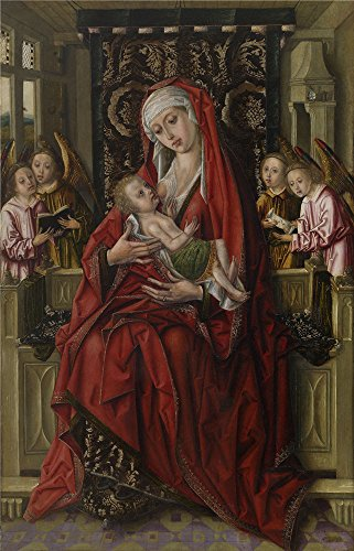 Oil Painting 'Maestro De Don Alvaro De Luna La Virgen De La Leche Ca. 1490', 8 x 12 inch / 20 x 32 cm , on High Definition HD canvas prints is for Gifts And Game Room, Garage And Hallway (Bleu Electric Wall Sconce)