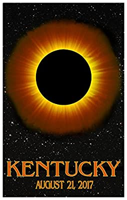 Kentucky Solar Eclipse Travel Art Poster . Art Print for Bedroom, Family Room, Kitchen, Dorm Room or Office Wall Décor