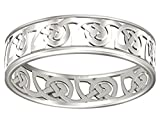 US Jewels And Gems Ladies 6mm 0.925 Sterling Silver Irish Celtic Love Knot Wedding Band Ring (Size 6.5)