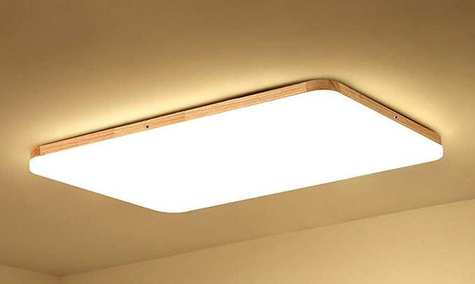 Azanaz Deckenleuchte Holz Bad Deckenlampe Wood mit Kühles Weiß Licht ...