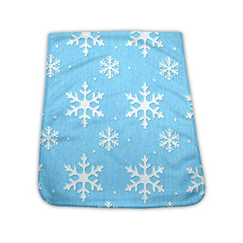 Blue Frozen Snowflake Cool Towels for Hiking, Exercise, Golf - Quick Dry Sweat Bandana Towel for Summer Hot Weather, Chilly Neck Headband Bandana Chilly Towel