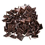 BQLZR Red Bronze Antique Square Upholstery Nails Tack Pyramid Studs Vintage Furniture 19 x 21mm Pack of 50