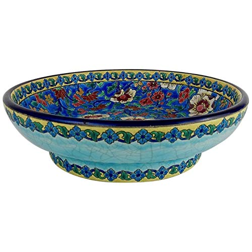 Large Longwy 10.25 in. French Faience Footed Bowl from The Art Deco Period ()