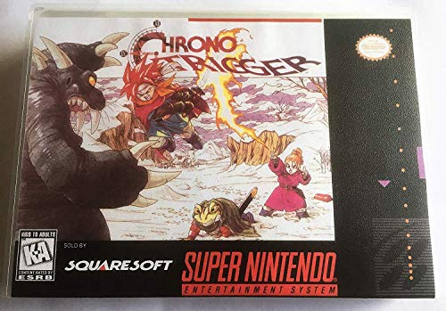 Chrono Trigger (Super Nintendo, SNES) - Reproduction Video Game Cartridge with Universal Game Case